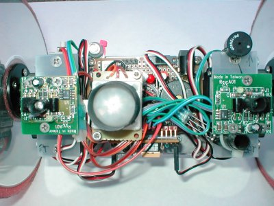 Rollie front view showing heat sensor